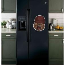 """Наклейка на холодильник """"Медведь в шапке"""""""