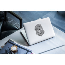 """Наклейка на ноутбук """"Орнамент собаки"""""""