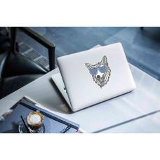 """Наклейка на ноутбук """"Волк в очках"""""""