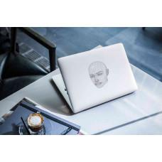"""Наклейка на ноутбук """"Орнамент лица"""""""