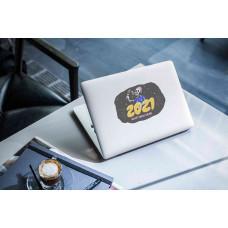 """Наклейка на ноутбук """"2021, HAPPY NEW YEAR"""""""