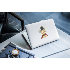 """Наклейка на ноутбук """"Ангел с деньгами"""""""