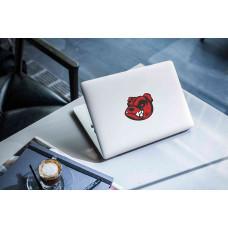 """Наклейка на ноутбук """"Красный Бульдог"""""""