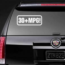 """Наклейка на стекло """"30+MPG!"""""""