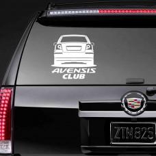 """Наклейка на стекло """"Avensis Club"""""""
