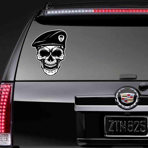 """Наклейка на авто  """"Череп ВДВ"""""""