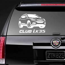 """Наклейка на стекло """"Club ix35"""""""