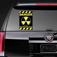 """Виниловая наклейка """"Danger Restricted Area"""""""