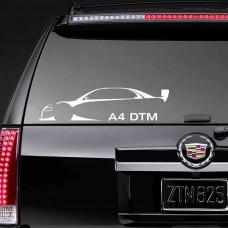 """Наклейка на стекло """"A4 DTM"""""""