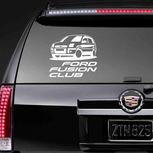 """Наклейка на стекло """"Ford Fusion Club"""""""