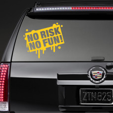 """Наклейка на стекло """"NO RISK NO FUN!"""""""