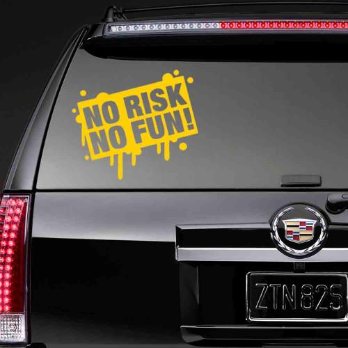 """Виниловая наклейка """"NO RISK NO FUN!"""""""