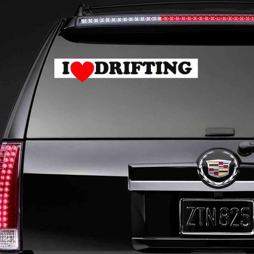 """Виниловая наклейка """"I love drifting"""""""