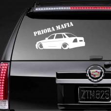 """Виниловая наклейка """"Priora MAFIA"""""""