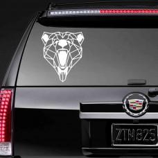 """Виниловая наклейка на стекло """"Медведь"""""""