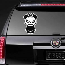 """Наклейка на стекло """"Злая Панда c бантом"""""""