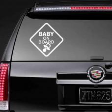 """Наклейка на стекло """"Baby on board"""""""