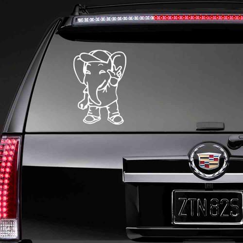 """Наклейка на стекло """"Слон"""""""