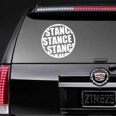"""Наклейка на заднее стекло """"Stance"""""""