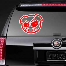 """Виниловая наклейка """"Angry Pig"""""""