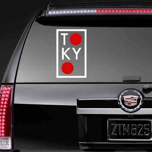 """Наклейка на стекло """"TOKYO"""""""