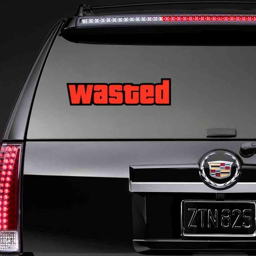 """Наклейка на стекло """"Wasted"""""""