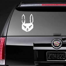 """Наклейка на заднее стекло """"Кролик"""""""