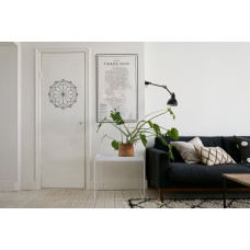 """Наклейка на дверь """"Геометрическая мандала"""""""