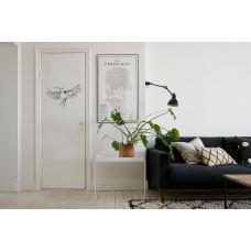 """Наклейка на дверь """"Птица с листьями"""""""