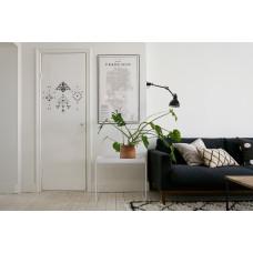 """Наклейка на дверь """"Геометрическая абстракция"""""""