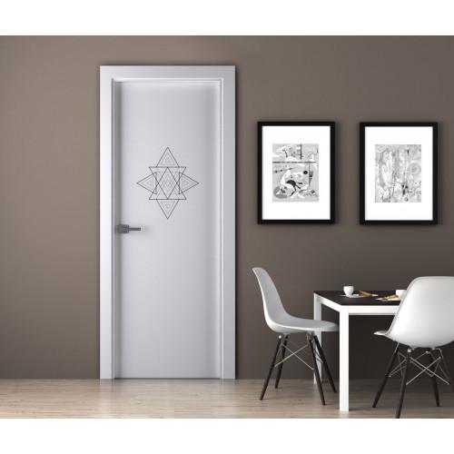 """Наклейка на дверь """"Фигура - треугольники"""""""