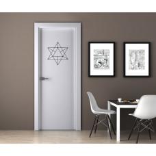 """Наклейка на дверь """"Фигура - перевернутые треугольники"""""""