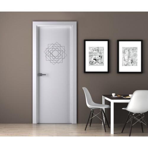 """Наклейка на дверь """"Фигура - квадраты"""""""