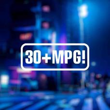 "Наклейка на авто ""30+MPG!"""
