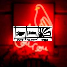 "Наклейка на авто ""Eat-Sleep-JDM"""
