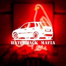 """Наклейка на авто """"Hatchback MAFIA"""""""