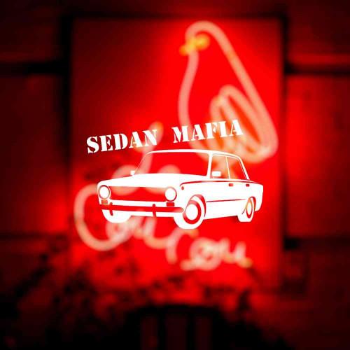 "Наклейка на авто ""Sedan MAFIA"""