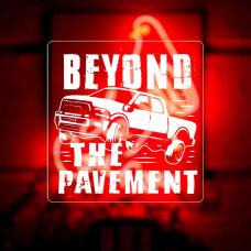 "Наклейка на авто ""Beyond the pavement"""