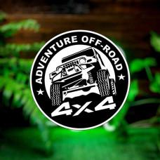 "Наклейка на авто ""Adventure OFF-ROAD 4x4"""