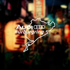 "Наклейка на авто ""Audi nurburgring"""