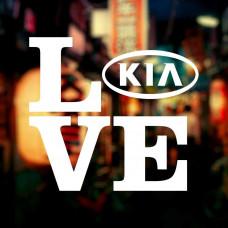 "Наклейка на авто ""Love KIA"""