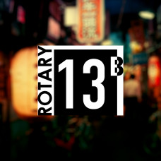 """Наклейка на авто """"Rotary 13B"""""""
