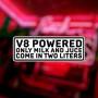 """Наклейка на авто """"V8 Powered"""""""
