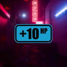"Наклейка на авто ""+10 hp"""