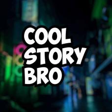 """Наклейка на авто """"Cool Story Bro"""""""