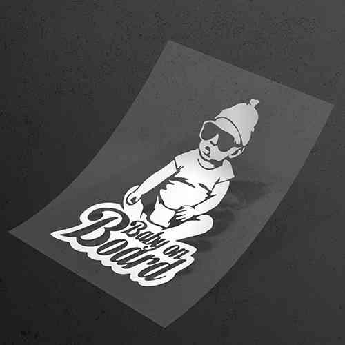 Виниловая наклейка на авто Baby on Car