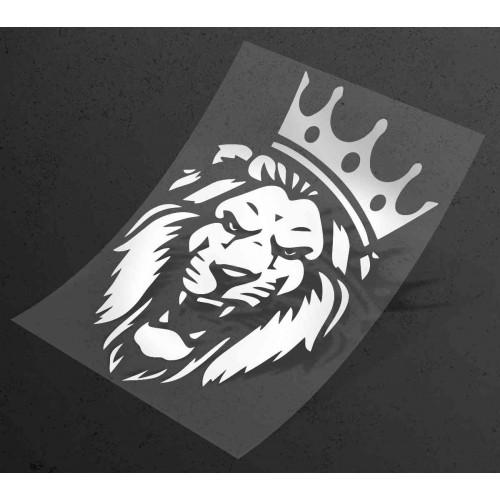 Наклейка на авто Лев царь зверей