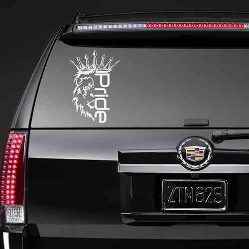 Наклейка на авто Лев Pride