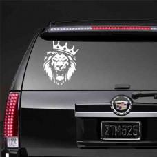 Наклейка на заднее стекло Лев царь зверей