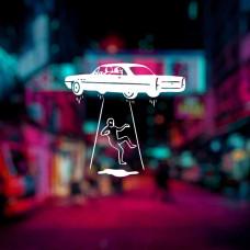 """Наклейка на автомобиль """"Пришелец"""""""